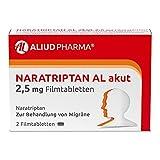 ALIUD PHARMA Naratriptan AL akut 2,5 mg, 2 Filmtabletten: Zur Behandlung von akuten Migräneattacken