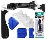 Silikonentferner & Silikon Fugenwerkzeug, Multifunktionale Profi Silikon Werkzeug Schaber Set mit Dichtung für Küche Badezimmer Boden Fliesen (11PCS)