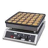 Waffeleisen,Waffeleisen mit Antihaftbeschichtung,36 Löcher Poffertjes Pfannkuchen Maschine 1000W