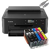 Bundle Canon PIXMA TS705 Drucker (OHNE Kopier- und Scanfunktion) mit 5er Set Youprint Druckerpatronen