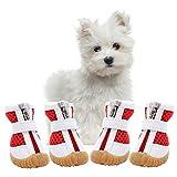 AOFITEE Mesh Hundeschuhe Haustier Stiefel, Atmungsaktive für Kleine Doggy, Wasserdicht Sandalen mit Anti-Rutsch-Sohle und Reißverschluss, Haltbarer Pfotenschutz Hot Pavement (XS, Rot)
