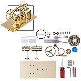Oeasy Stirlingmotor Bausatz, DIY Metall Stirling Motor Generator Modell Stromgenerator Motor, Physisches Experiment Geschenk für Technikbegeisterte und Kinder