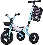 Z-LIANG Kinder Dreirad Faltbar 1-3-2-6 Jahre altes Fahrrad Fahrrad Fahrrad Babywagen Spielzeug Kind (Farbe: Blau, Größe: 55x50x59cm)