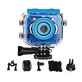 Beste Kinder Underwater Kamera 1080P HD Digitale Foto Videokameras Unterwasser Actionkamera Wiederaufladbare Action Kamera Wasserdichte Videokamera für Geburtstagsgeschenk Geschenk (Blau)