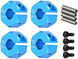 RC Modell Hex Adapter Hex Adapter Aluminiumlegierung Leicht Blau für LKW 1/10 RC AutoDauerhaft Nützlich und praktisch Nettes Design Praktisches Design und langlebig