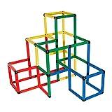 Quadro-Kletterpyramide Set mit 237-tlg bis ca. 100 kg belastbar; Kletterpyramide Kinder Kletterpyramide Verschiedene Designs Grossbaukasten