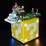HYZH Led Beleuchtungsset für LEGO 71395 Super Mario 64 Block, LED Licht-Set Kompatibel Mit Lego 71395 Bausteinen Modell - Ohne Bauset Set