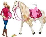 Barbie FRV36 - Traumpferd und Puppe, laufendes und tanzendes Pferd mit Berührungs- und Geräuschsensoren, Mädchen Spielzeug ab 3 Jahren, Mehrfarbig
