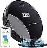 Saugroboter Q5,HONITURE 2-in-1 Staubsauger Roboter LCD mit Wischfunktion und intelligenter Navigation,350ml E-Wassertank,2000Pa Absaugung,mit Fernbedienung ,APP und Alexa für Tierhaare ,Hartboden