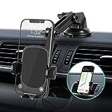 Amazon Brand – Eono Handyhalterung Auto,3-in-1 Handyhalter für Lüftung,Armaturenbrett,Windschutzscheibe,Auto HandyHalterung mit Zweifach Flexiblem Stützarm und Saugnapf,für alle 4-7inch Handy