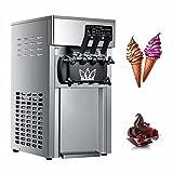 NISHIPANGZI Kommerzielle Slushy Machine Softeismaschine 18L 1200W Arbeitsplatte Snow Slushie Maker Edelstahl Smoothie Frozen Maker