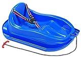 MARMAT Kinder Schlitten mit Sicherheitsgurt bis 3 Jahre (Blau)