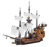 BlueBrixx QL1802 Marke ZHE GAO – Piratenschiff - Geisterschiffe aus Klemmbausteinen mit 1171 Bauelementen. Kompatibel mit Lego. Lieferung in Originalverpackung.