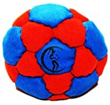 Pro Hacky Sack 32 Paneelen (Blau/Rot) Profi Freestyle Footbag! Hacky Sack für Anfänger und Profis, ideal für Stände, Fänge, Verzögerungen u. Tritte!