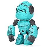 ALLCELE Legierung Gorilla Spielzeug für Kinder,interaktives Roboterspielzeug,Berührungssteuerung& LED-Augen, Geburtstagsgeschenk, Gorilla Roboterspielzeug für Jungen und Mädchen über 3 Jahre(Blau)