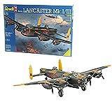 Revell REV-04300 Flugzeugbomber Avro Lancaster Mk.I/III, Flugzeugmodellbausatz 1:72, 29,5 cm Royal Air Force (RAF) Modelmaking, unlackiert