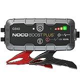 NOCO Boost Plus GB40 1000A 12V UltraSafe Starthilfe Powerbank, Tragbare Auto Batterie Booster, Starthilfekabel und Überbrückungskabel für bis zu 6-Liter-Benzin- und 3-Liter-Dieselmotoren