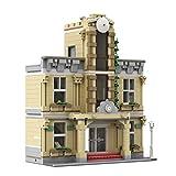 BRAGO Modular Bahnhof Bausatz, MOC-80238 Technik klemmbausteine Architektur Bauset, Kompatibel mit Lego 10278 Polizeistation - 1385 Teile