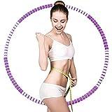 Lineluck Hula Hoop Reifen Erwachsene, 37.5 Zoll Fitnessreifen mit Premium Schaumstoff, Abnehmbarer&Füllung, Hula Hoop Reifen von 1bis 3.2kg, für Erwachsene oder Kinder