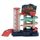 Haowecib Parkhaus Spielset, Kunststoff Parkhaus Spielzeug Elektrischer Whirl für als Geschenk