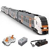 Sunery Technik Schnellzug Bausteine, Rhein-Ruhr-Express Deutsches Hochgeschwindigkeitszug Modell Bausatz, 2917 Teile 2.4Ghz Ferngesteuertes Zug Konstruktionsspielzeug Kompatibel mit Lego Technic
