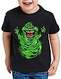 style3 Slimer T-Shirt für Kinder geisterjäger Gespenst, Größe:128