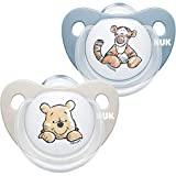 NUK Trendline Schnuller   0-6 Monate   BPA-freier Schnuller aus Silikon   Disney Winnie Puuh   Blau (Junge)   2Stück