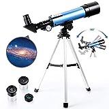 PEALOV Astronomisches Teleskop Kinder Einsteiger, Mit Verstellbarem Stativ Teleskop Professionelle   50Mm ÖFfnung Und 360Mm Brennweite Astronomisches Teleskope Reflektor Durch