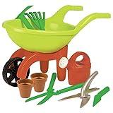 Simba 107137758 - Schubkarre mit Gartenwerkzeug, 9 Teile, Länge 49cm, Sandkasten, Sandspielzeug