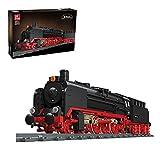 Bulokeliner Technik Retro Güterzug-Dampfzug Bausteine, 1173+ Teile BR01 Zug Dampftriebwagen Modell mit Schiene, Kompatibel mit Lego