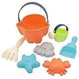 Bodhi2000 Strandspielzeug-Set für Kinder, Sandkastenspielzeug, Sommer-Strandspiele, Sandspielzeug, Kinder-Strandharke, Oktopus, Krabbeneimer, Sandkasten-Spielzeug, zufällige Farbe