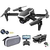 allcaca S171 Mini Faltbare Drohne RC-Quadcopter mit 1080P Doppelkameras | kopfloser Modus | Höhe halten | 3D Flip | Flugbahn | Sprachsteuerung | Start mit Einer Taste | Landung für Anfänger, Schwarz