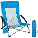 Timber Ridge Campingstuhl Strandstuhl Tragbar faltbar Klappstuhl mit Tragetasche Getränkehalter leicht niedrig blau 135 kg belastbar