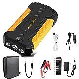 Starthilfe Powerbank 12V Car Booster 800A 18000mAh Tragbar mit USB Schnellladebatteriestarter für Auto (Gelb)