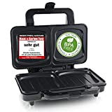 Emerio XXL Sandwichtoaster für alle Toastgrößen geeignet, BPA frei, große Muschelform, leicht zu reinigen, Käse läuft nicht aus, PREIS-/LEISTUNGSSIEGER Haus & Garten Test 03/2019, 900 Watt