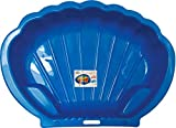thorberg Sandbox Sandkasten Sandmuschel Muschelform groß 108x79cm XL, Für Tiere geeignet! (blau)