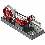 TAOLEI Heißluft-Stirlingmotor Elektromagnetische pneumatische Dampfmaschine Modell stirlingmotoren Sterling-Motor Dampfmaschinen Rot (H1)