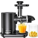 Slow Juicer, Acezoe Entsafter Gemüse und Obst mit 2 Filter, BPA-frei, Leistungsstarker Ruhiger Motor & Umkehrfunktion & Saftkanne & Reinigungsbürste, 150W