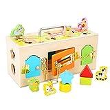 Alacritua Activity Board Busy Cube Motorikwürfel Montessori Spielzeug, Tragbares Anti Stress Spielzeug Activity Board, Angst Entlastung, Montessori Spielzeug Für Kleinkinder ab 3 Jahre