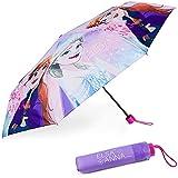 Regenschirm Kinder Frozen - BONNYCO | Regenschirm Sturmfest mit Verstärkter Struktur - Klappschirm mit für Tasche, Rucksack oder Reise | Regenschirm Klein Mädchen - Geschenke für Mädchen