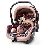 Ycsax Babyschale, Load Leg Base, Leichte Babyschale Mit Seitenaufpralltechnologie, Kompatibel Und Ameisenkinderwagen Für 0-15 Monate, Rot,Beige