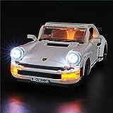 HYQX Led Beleuchtung Licht Set für Lego 10295 Porsche 911 Turbo,LED Licht Kit Kompatibel Mit Lego Porsche 911 Turbo 10295(NUR Licht Set)