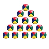 Coriver 15Pcs Soft Jonglierbälle Set, Kinder Ballwurfball Spiele Zirkus Clown Farbige Jonglierbälle für Erwachsene Kinder Anfänger Outdoor Spielzeug mit Aufbewahrungstasche