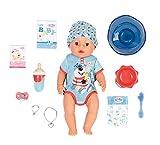 Zapf Creation 827963 BABY born Magic Boy 43 cm - neu mit magischem Schnuller und 10 lebensechten Funktionen