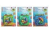 Noris 606062999 - Angelspiel mit Aufziehfunktion (Farbauswahl nicht möglich) - Set mit 8 Fischen und 4 Angeln, ab 3 Jahren
