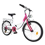 20 Zoll Kinderfahrrad - Fahrrad für Kinder Cruiser,Jugendfahrrad für Jungen und Mädchen mit 6 Gang Schaltung für Kinder zwischen 12-16 Jahre und 1,00-1,40m Körpergröße