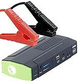 reVolt Auto Starter: Notebook-Powerbank mit Kfz-Starthilfe & LED-Leuchte, 8.000 mAh, 400 A (Starterbatterie)