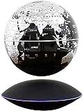 KANJJ-YU Erkunden Sie die Welt, schwebender Globus 20,3 cm, 360 Grad drehbar, magnetische Kugel, Hängelampe, Weltkarte mit LED-Lichtern, Heimdekoration, Kinderglobus Welt (Farbe: C)