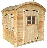 TIMBELA M505-1 Gartenhaus Kinder mit Holzboden - Spielhaus Garten Holz - Gartenhaus Holz Klein, B105xT130xH145 cm