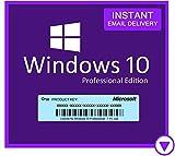 Windows 10 Professional (Pro) 32/64 Bit | Original Lizenzschlüssel | Mehrsprachig | 100% Aktivierung | 1 PC | Sie können auch Windows 10 Home auf Pro aktualisieren, schneller Schlüsselversand